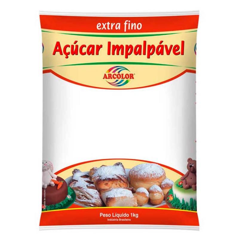 Açúcar Impalpável Extra Fino • 1kg • Arcolor