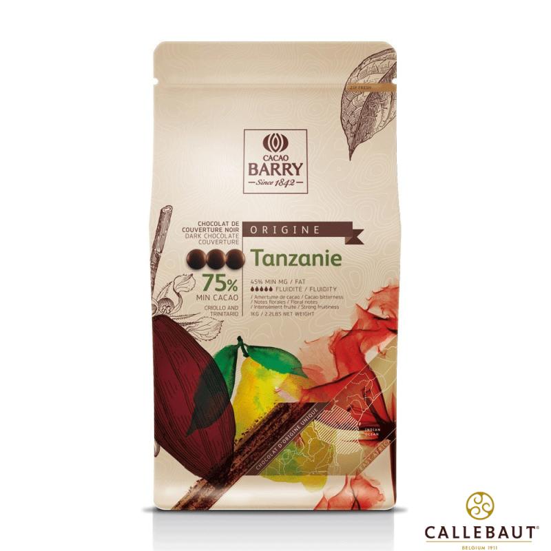 Chocolate Belga • 1Un • Tanzanie • Amargo •75% 1kg