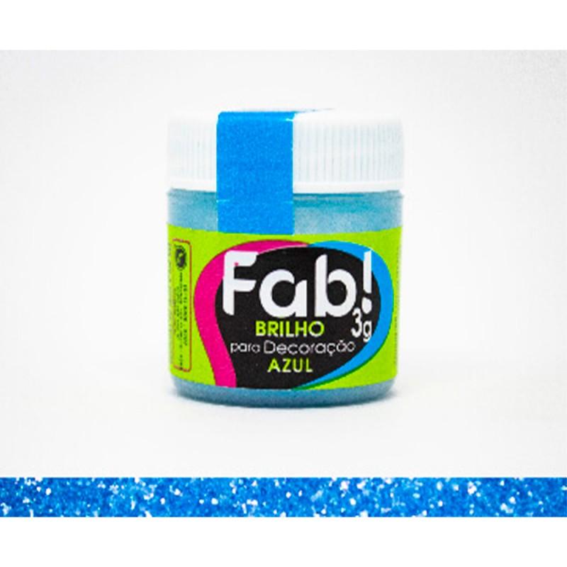 Corante em Pó • Brilho Azul • 3g • Fab