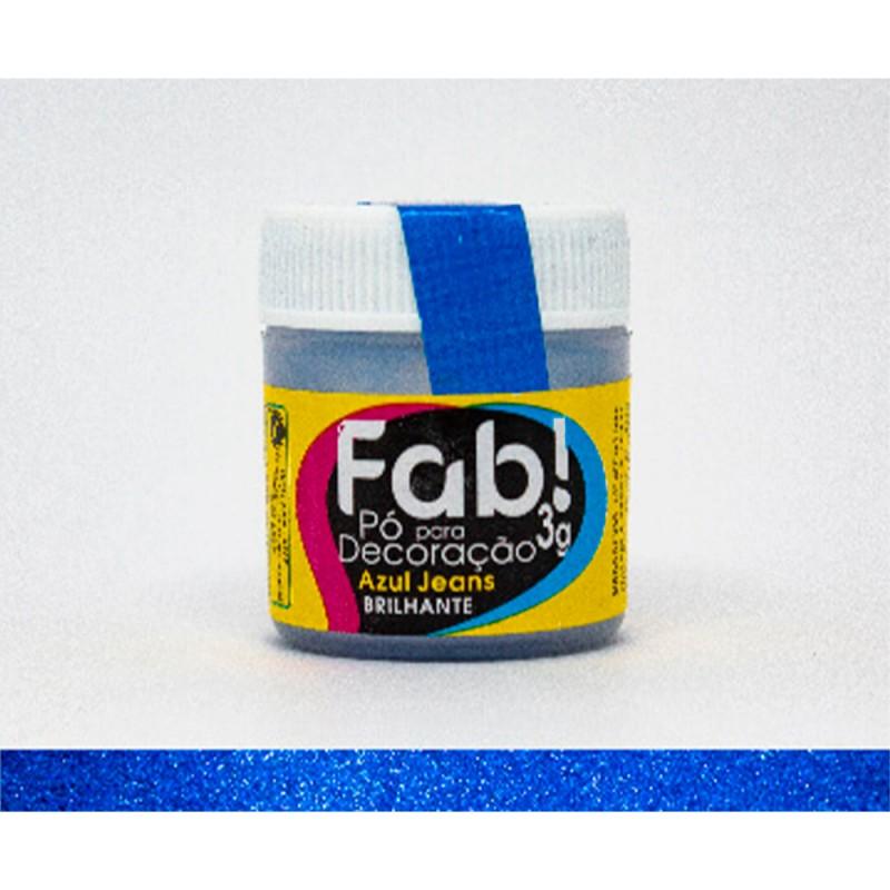 Corante em Pó • Azul Jeans Brilhante • 3g • Fab