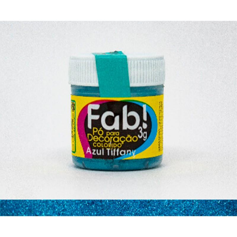 Corante em Pó • Azul Tiffany • 3g • Fab
