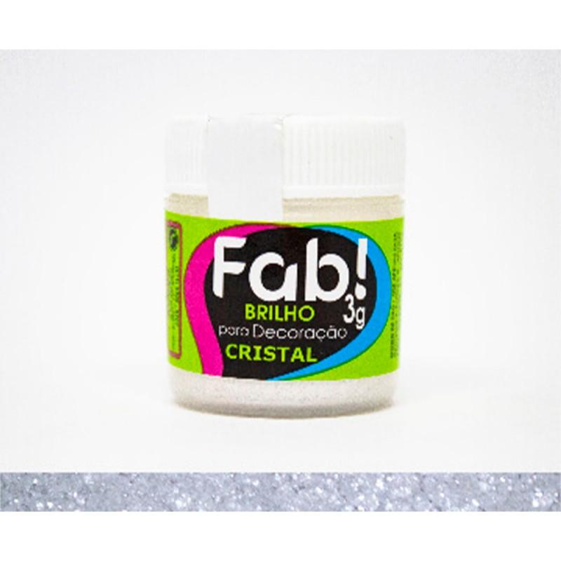 Corante em Pó • Cristal Brilhante • 3g • Fab