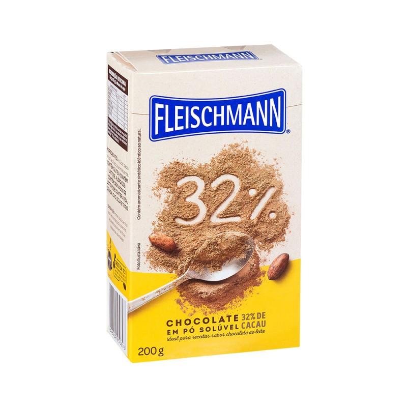 Chocolate em Pó Solúvel • 32% Cacau • 200g • Fleischmann