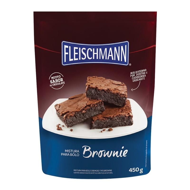 Mistura para Bolo • Brownie • 450g • Fleischmann