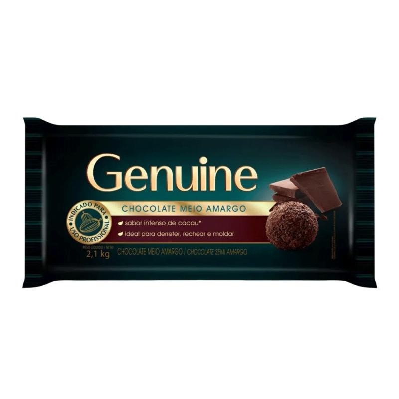 Chocolate em Barra Meio amargo 1,05kg • Genuine