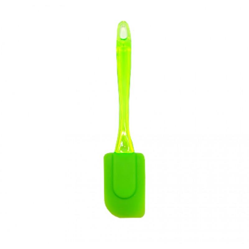 Colher Curva de Silicone • Verde Limão • Le Chef