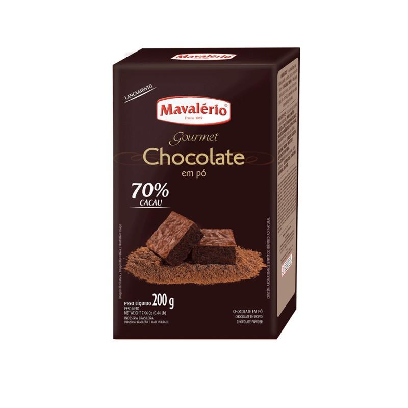 Chocolate em Pó Solúvel • 70% Cacau • 200g • Mavalério