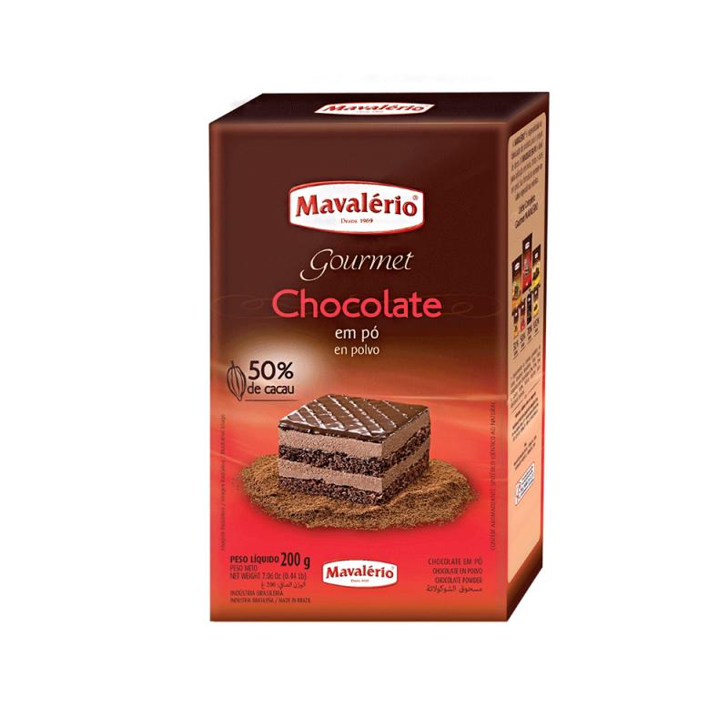 Chocolate em Pó Solúvel • 50% Cacau • 200g • Mavalério