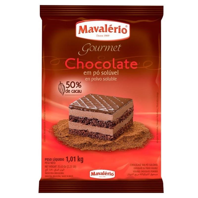 Chocolate em Pó Solúvel • 50% Cacau • 1kg • Mavalério