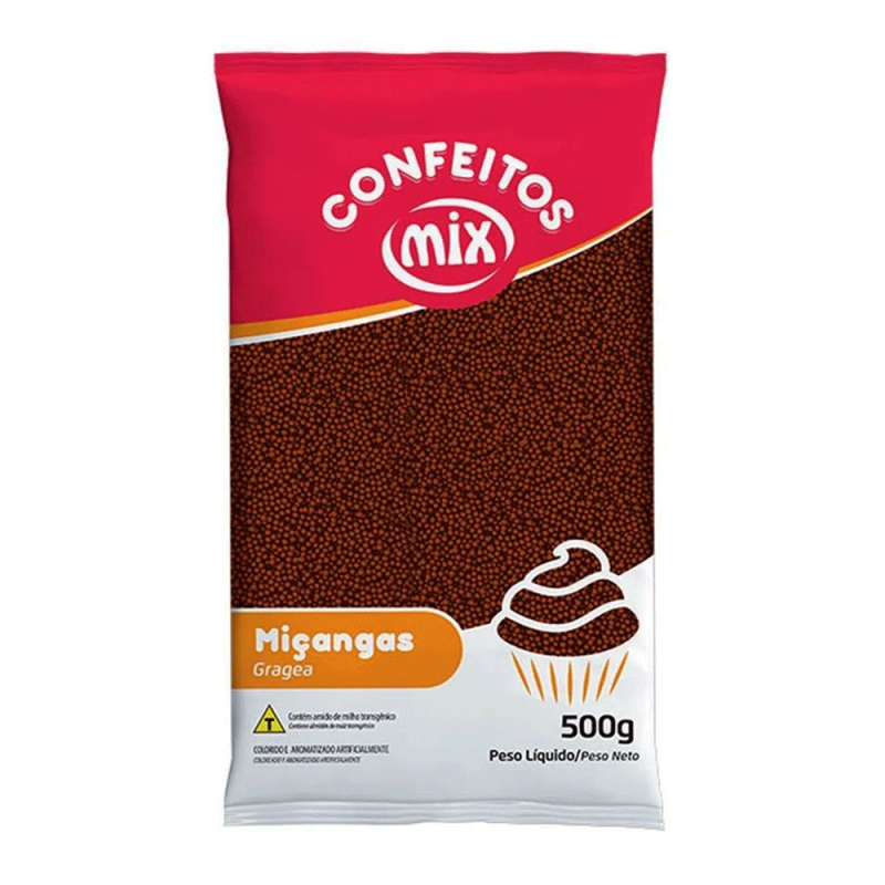 Confeito Miçanga Brigadeiro 500g - Mix