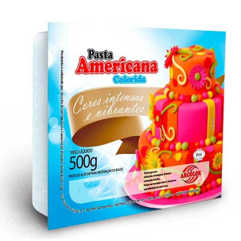 Pasta Americana • Cor Azul Piscina • 500g • Arcolor