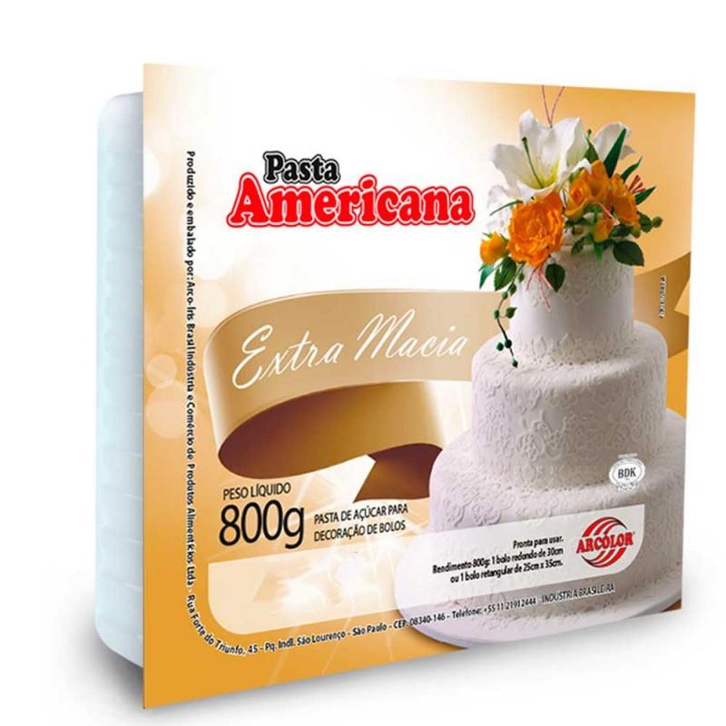 Pasta Americana • Sabor Abacaxi • 800g • Extra Macia| Arcolor