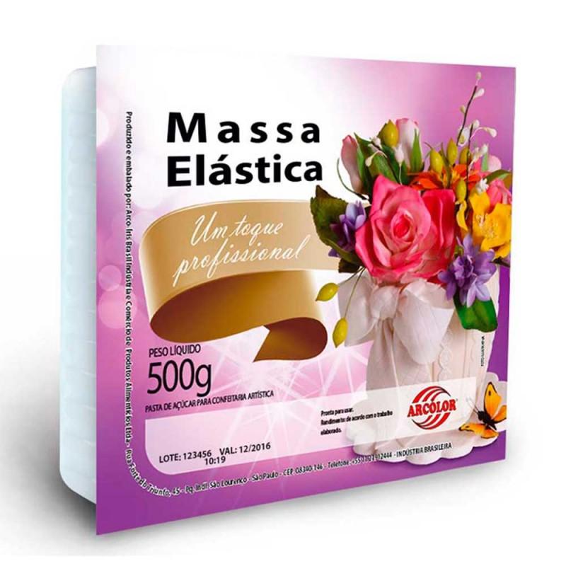 Massa Elástica • Cor Branca • 500g • Arcolor