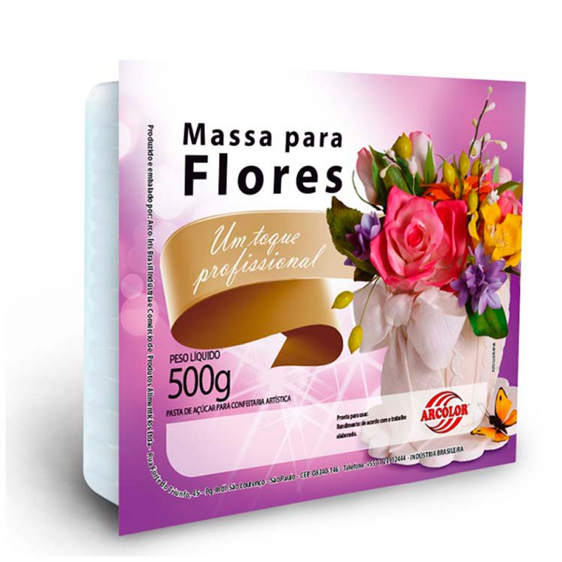 Massa para Flores • Cor Amarela • 500g • Arcolor