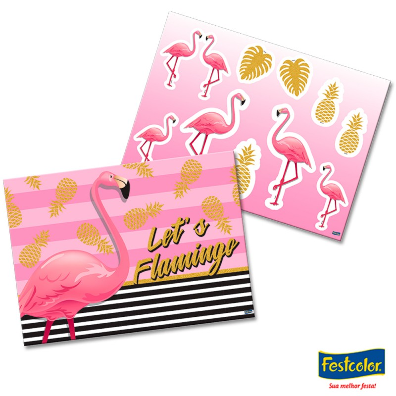 Kit Decorativo Flamingo • Festcolor