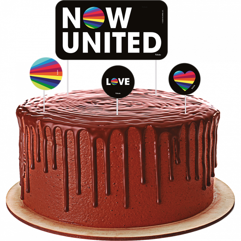 Topper para Bolo • 4un • Now United • Festcolor