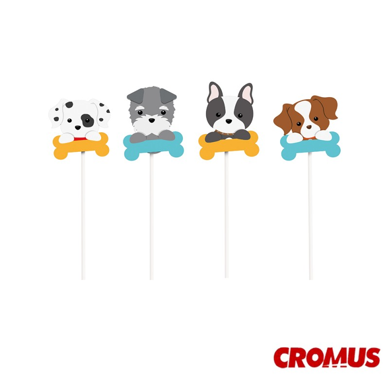 Pick Decorativo • Cachorrinhos • Cromus