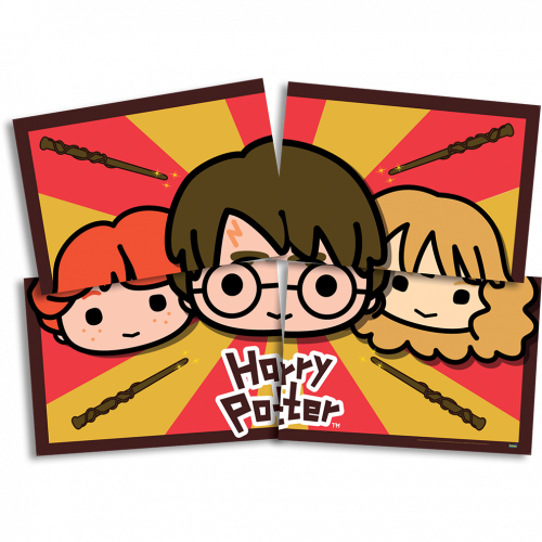 Painel Decorativo • 04 Lâminas • Harry Potter Kids • Festcolor
