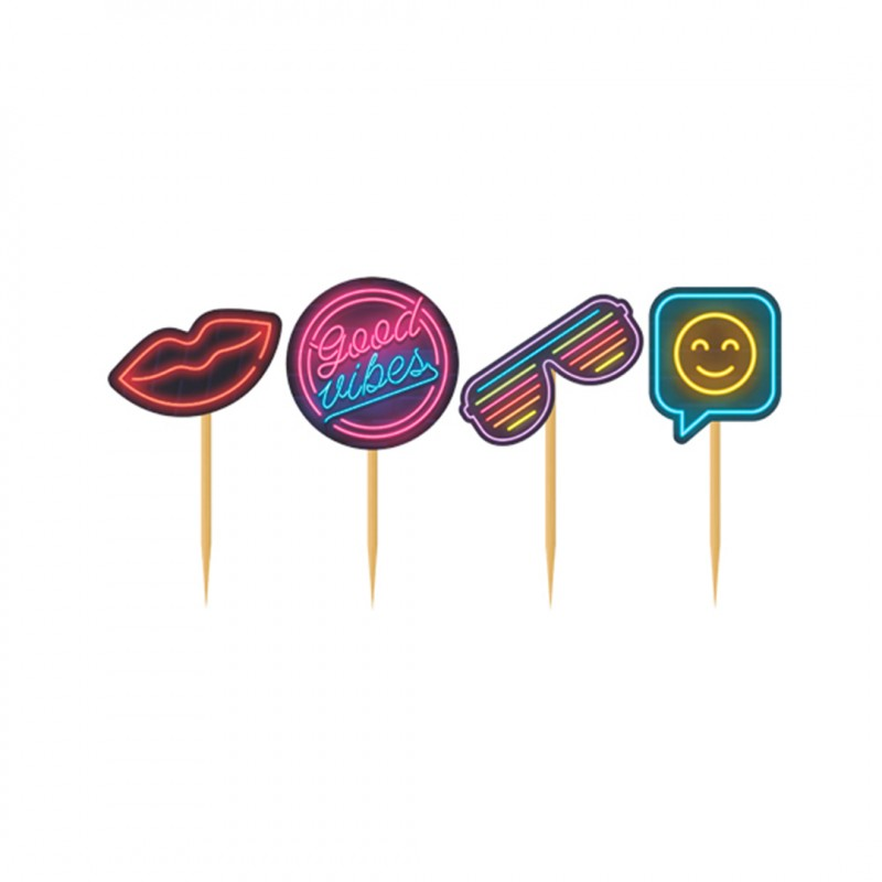 Picks Decorativos • Neon Party • 4un • Junco