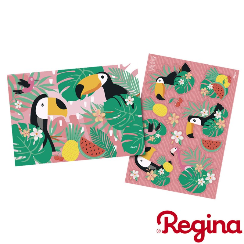 Kit Decorativo com Apliques • Tropical • Regina