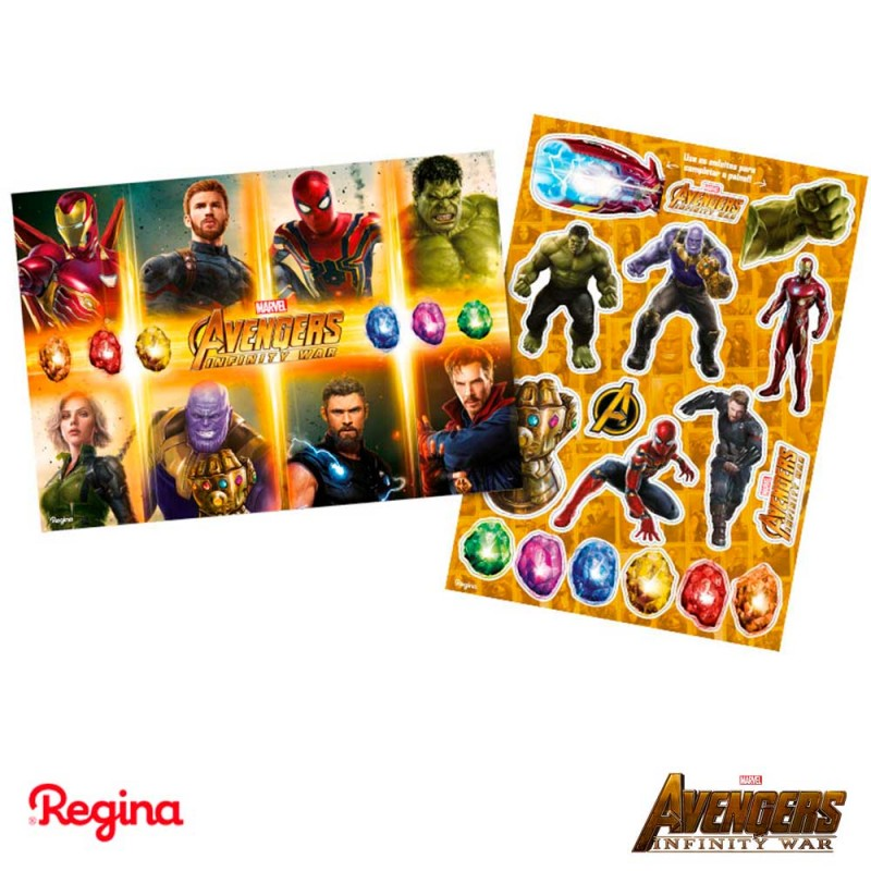 Kit Decorativo • Vingadores 3 • Regina