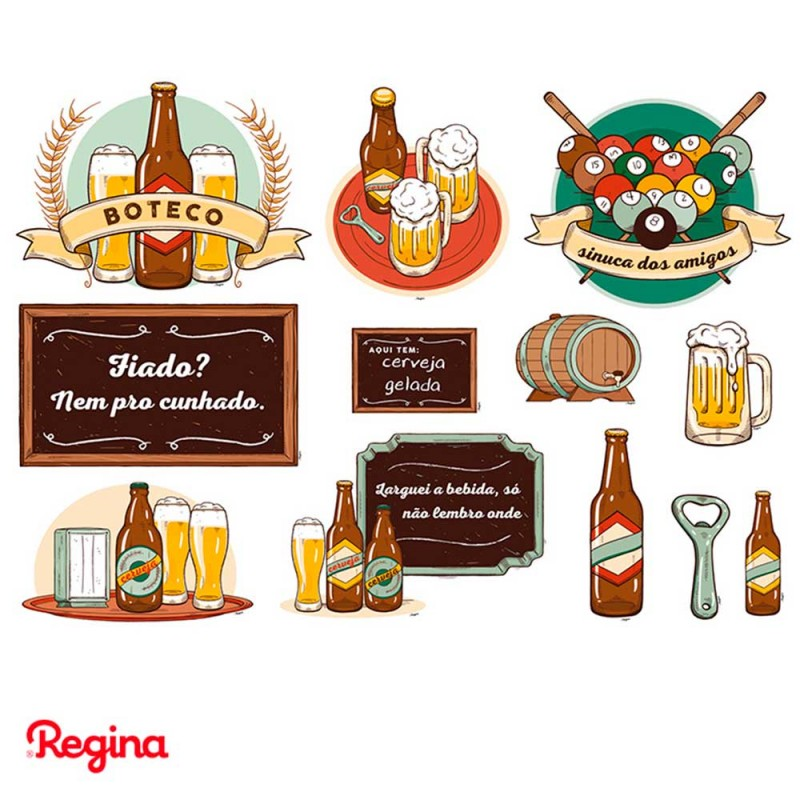 Mini Personagens Decorativos • 22un.• Boteco • Regina