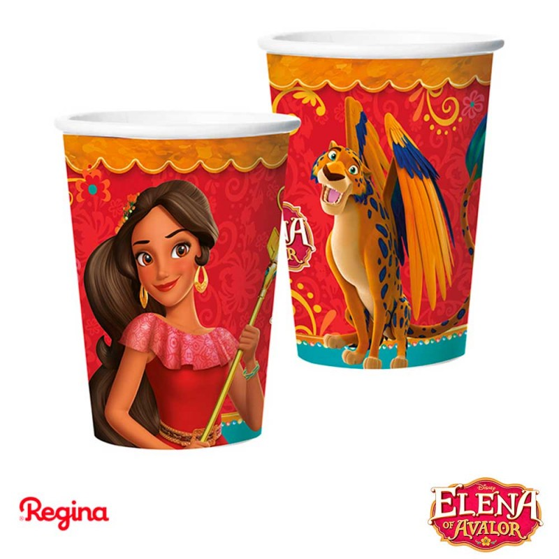 Copo papel • Elena de Avalor • 180ml.• 8un. • Regina