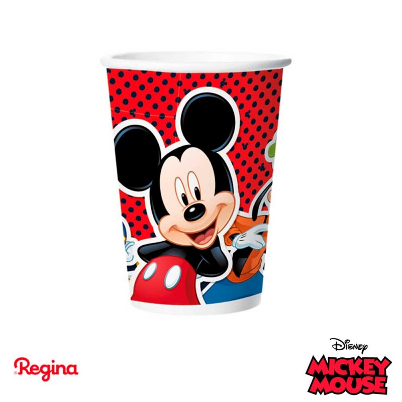Copo papel • Mickey Mouse • 180ml.• 8un. • Regina