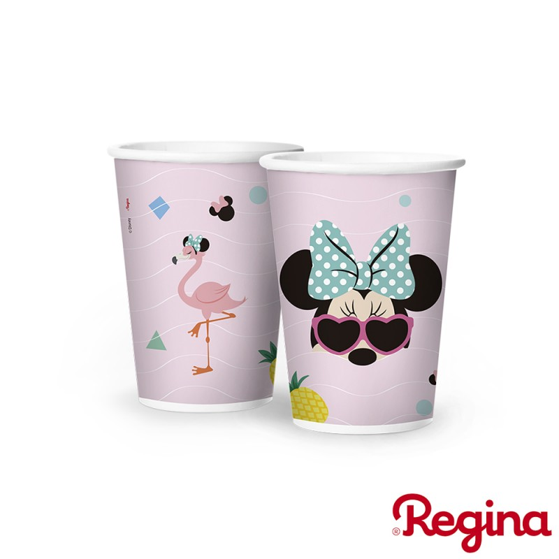 Copo de papel • 180ml • Minnie Flamingo • Regina
