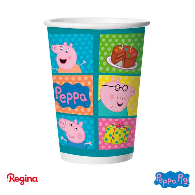 Copo papel • 180ml.• 8un.• Peppa pig • Regina
