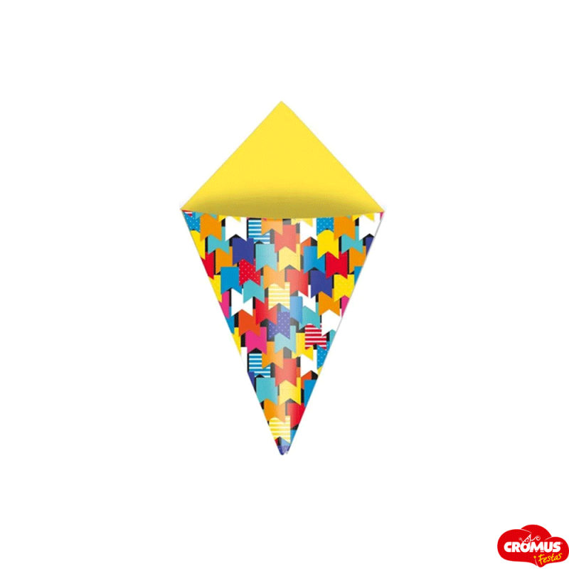 Cone Decorativo  • 24un • Festa Junina  • Cromus