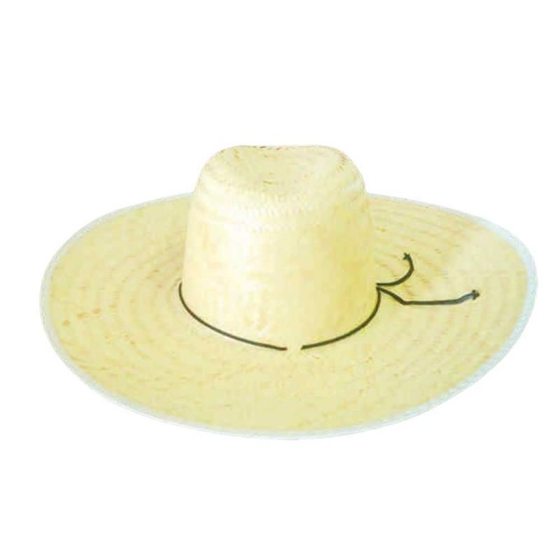 Chapéu de Palha •  Adulto • Cordão Preto • Festa Junina