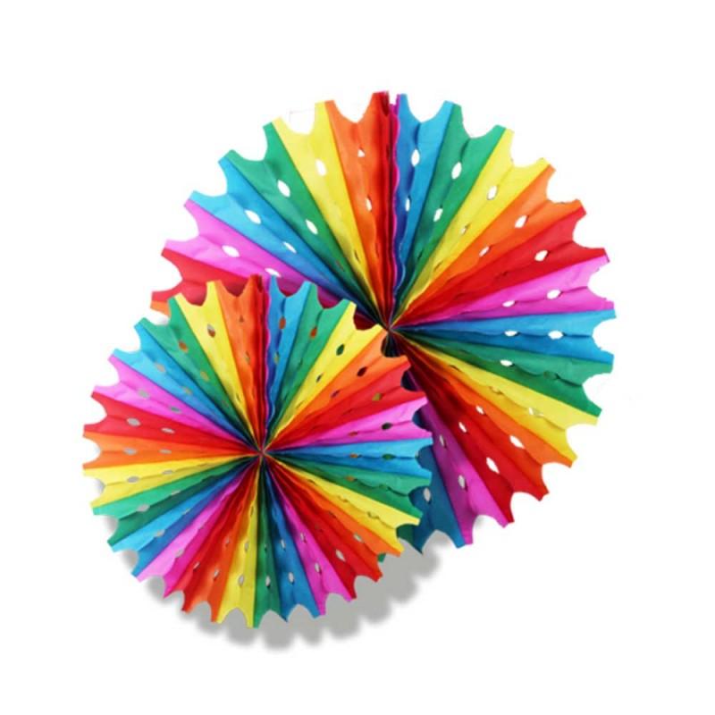 Enfeite Junino Decorativo • Balão - Circulo Colorido • 02un. • Popper