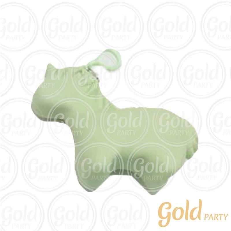 Chaveiro Silicone • Bolsinha Unicórnio • Verde • 1un.• Gold Party