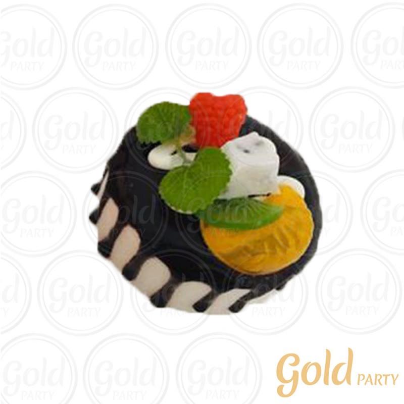 Imã • Bolo Muffin Chocolate • Redondo • 1un.• REF:PA1004 • Gold Party