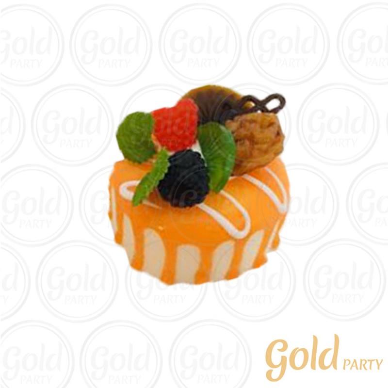 Imã • Bolo Muffin Laranja • Redondo • 1un.• REF:PA1004 • Gold Party