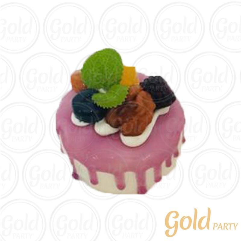 Imã • Bolo Muffin Frutas Vermelhas • Redondo • 1un.• REF:PA1004 • Gold Party