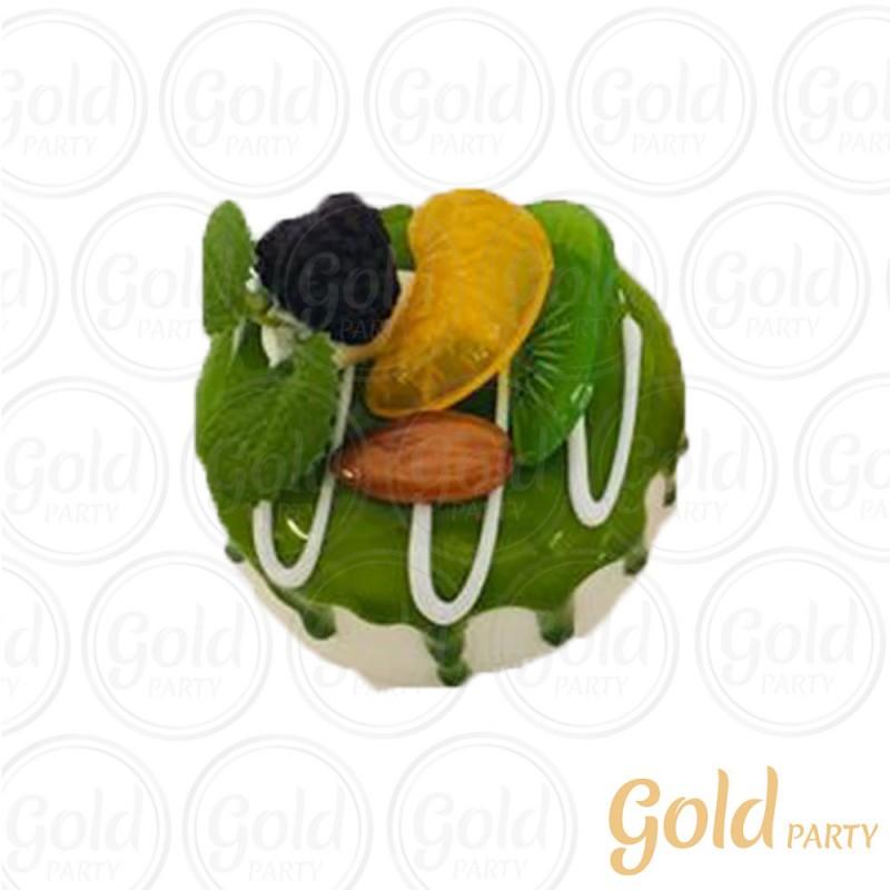Imã • Bolo Muffin Limão • Redondo • 1un.• REF:PA1004 • Gold Party