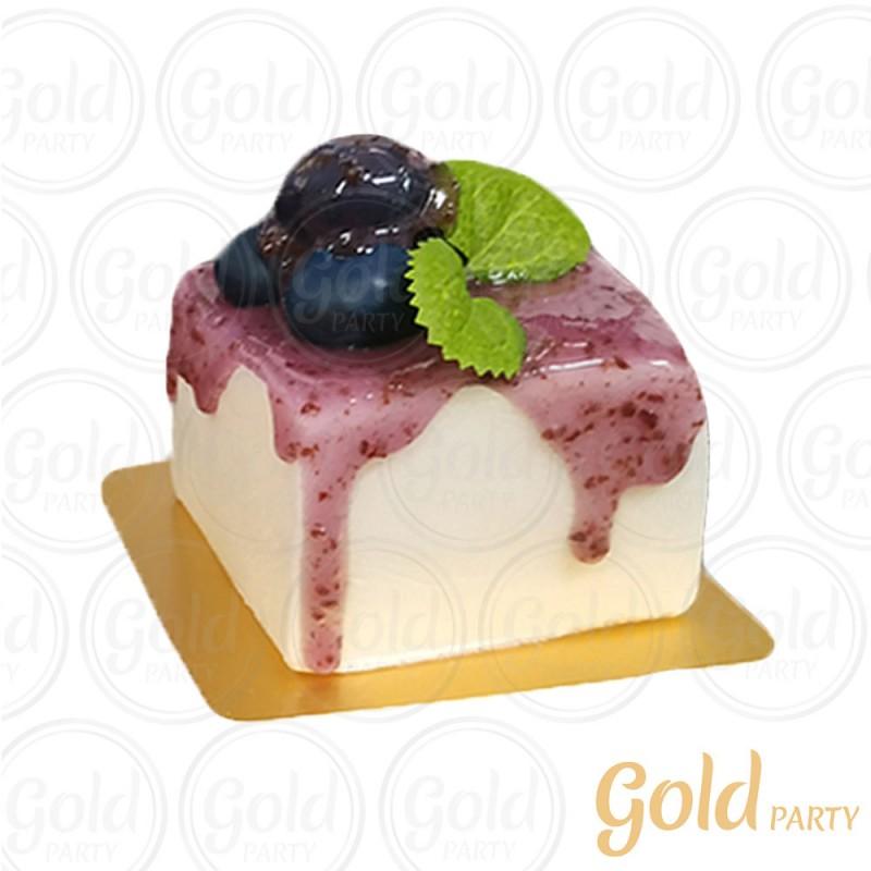 Imã • Mini Bolo Uva • Quadrado • 1un.• REF:PA1003 • Gold Party
