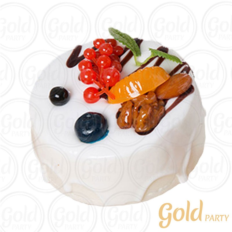 Imã • Doce de Frutas Chocolate Branco • Redondo • 1un.• REF:PA1014 • Gold Party