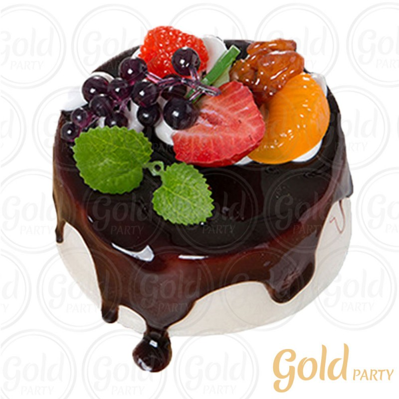 Imã • Doce de Frutas Chocolate • Redondo • 1un.• REF:PA1014 • Gold Party