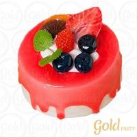 Imã • Doce de Frutas Morango • Redondo • 1un.• REF:PA1014 • Gold Party
