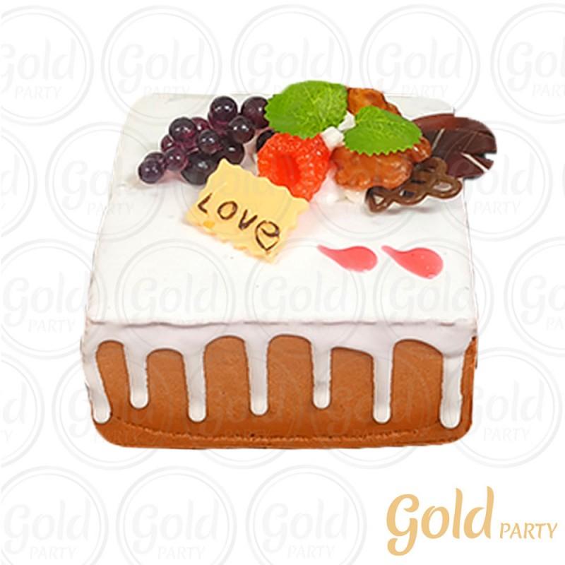Imã • Doce de Frutas • Quadrado • 1un.• REF:PA1021 • Gold Party