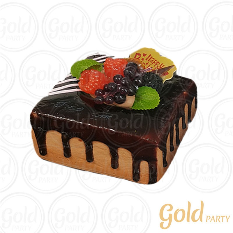 Imã • Doce de Frutas - Chocolate • Quadrado • 1un.• REF:PA1021 • Gold Party