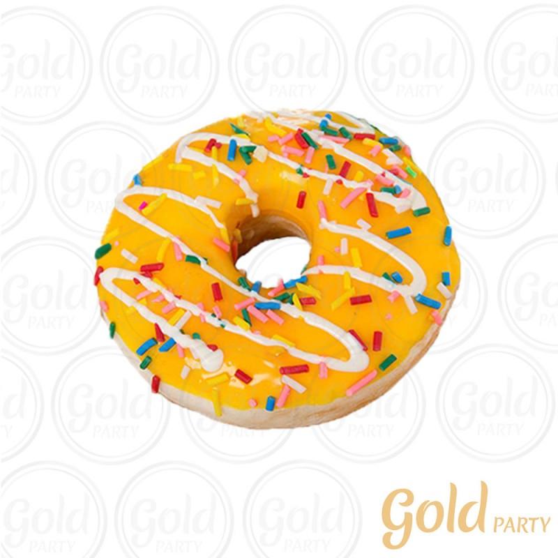 Imã • Donuts  Médio • Amarelo • 1un.• REF: PA1012 • Gold Party