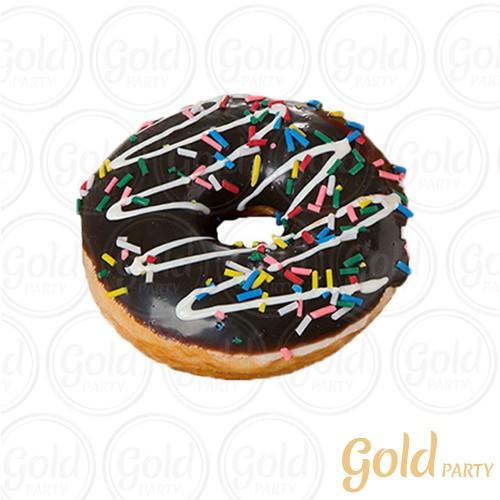 Imã • Donuts Médio • Chocolate e Granulado • 1un.• REF: PA1012 • Gold Party