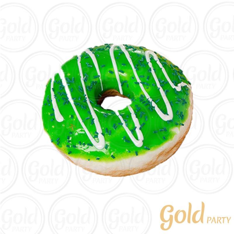 Imã • Donuts Médio • Verde • 1un.• REF: PA1012 • Gold Party