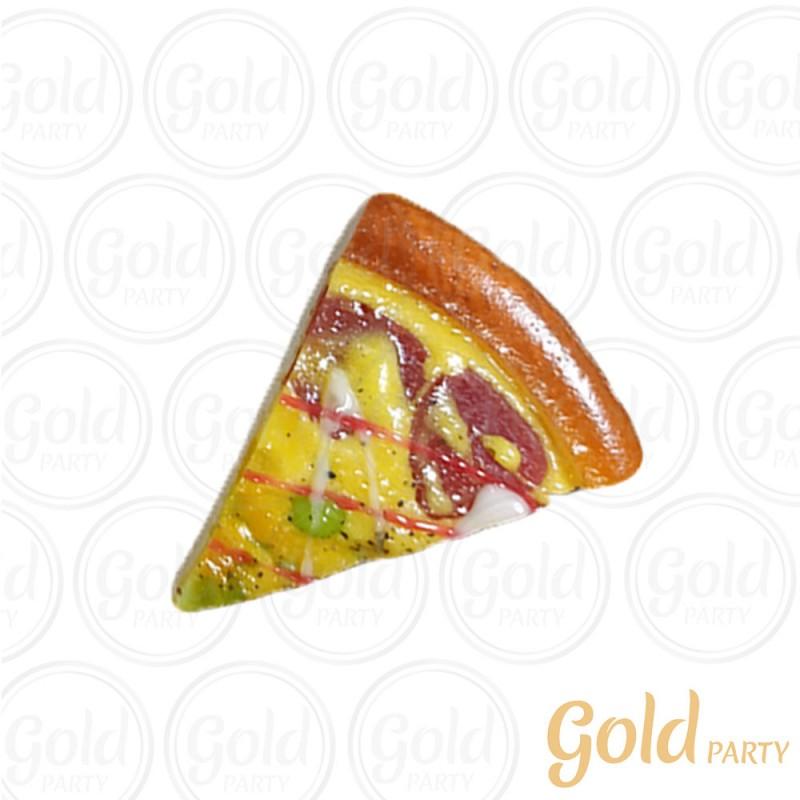 Imã • Fatia de Pizza • Calabresa • 1un.• REF: PA1015 • Gold Party