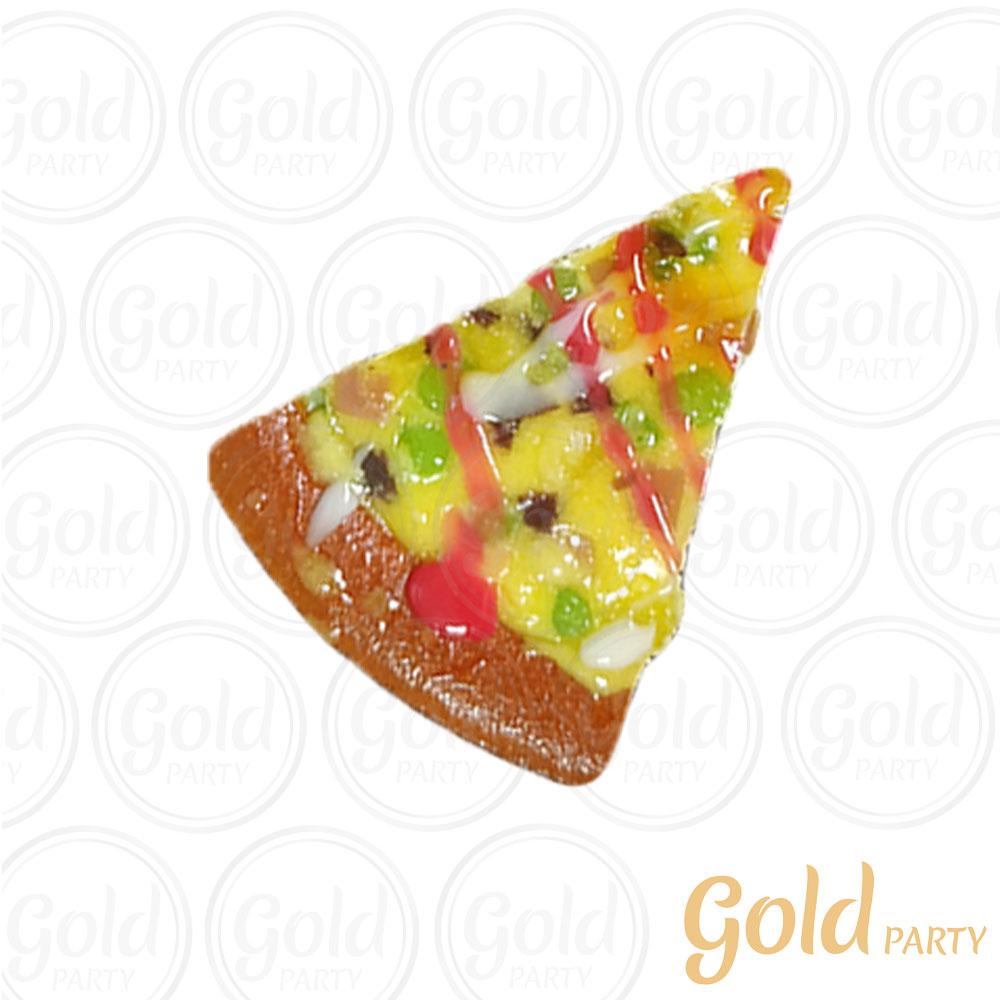 Imã • Fatia de Pizza • Ervilha • 1un.• REF: PA1015 • Gold Party