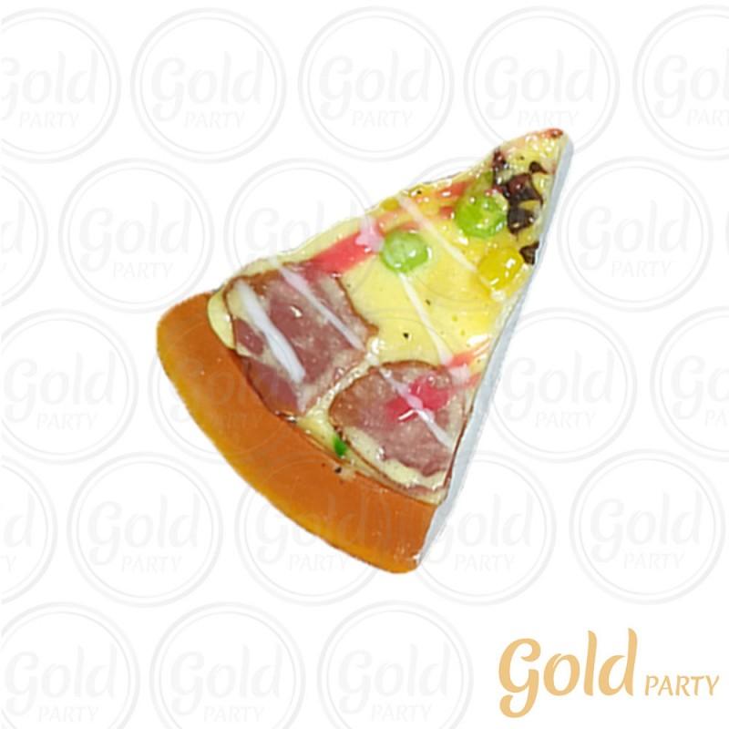 Imã • Fatia de Pizza • Pepperoni • 1un.• REF: PA1015 • Gold Party